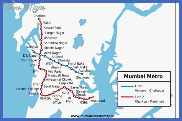 mumbai metro map  2 Mumbai Metro Map