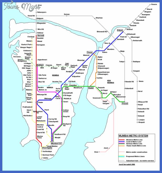 mumbai subway map 0 Mumbai Subway Map