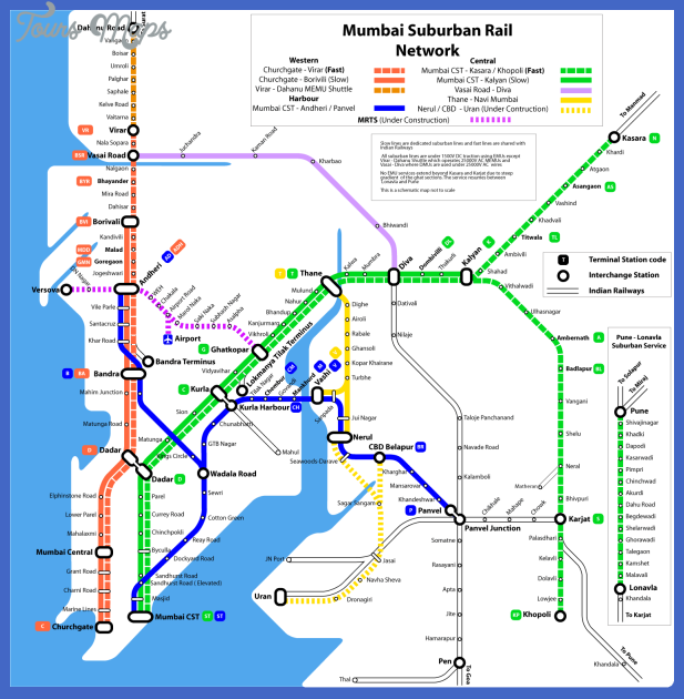 mumbai subway map 1 Mumbai Subway Map