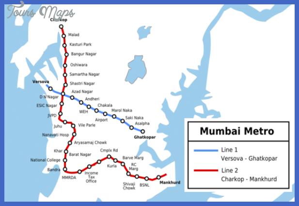 Mumbai Subway Map.Mumbai Metro Map Toursmaps Com