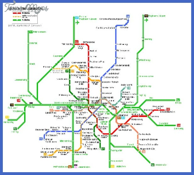Munich Metro Map ToursMapscom