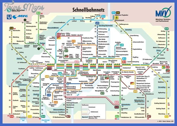 mvv high Munich Subway Map
