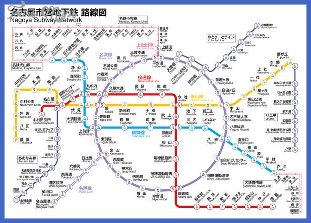 Nagoya Subway Map ToursMapscom