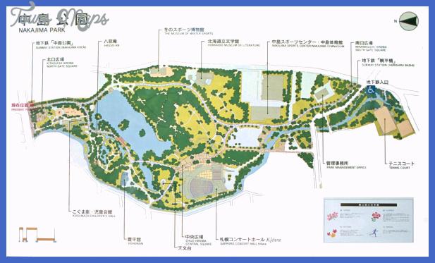 nakajima park map 2 Sapporo Metro Map