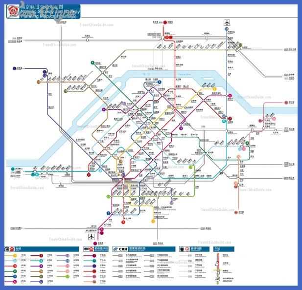 Nanjing Metro (MRT) System Map