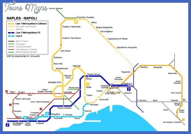 Napoli Subway Map.Naples Metro Map Toursmaps Com