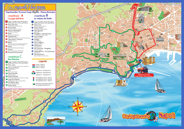 naples tourist map Italy Map Tourist Attractions