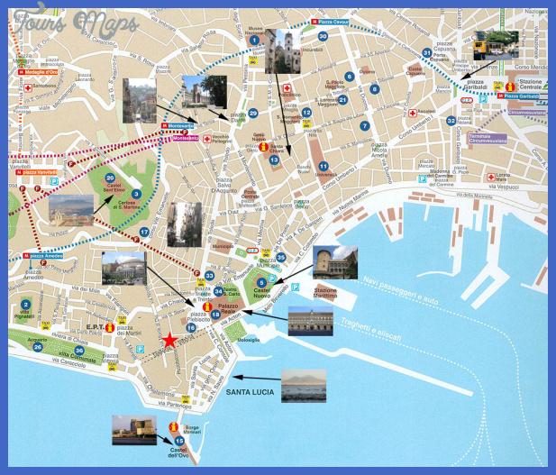 napoli tourist map 1 Naples Map Tourist Attractions