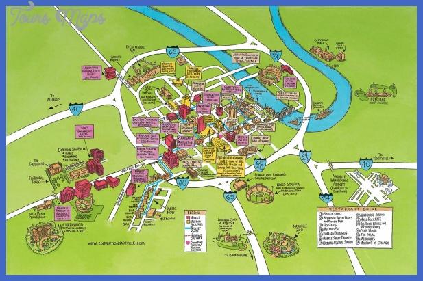 nashville tn tourist map Memphis Map Tourist Attractions