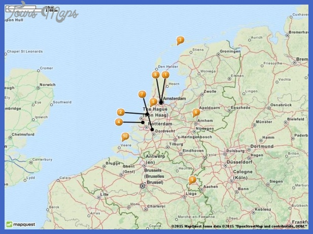 Netherlands Map Tourist Attractions ToursMapscom