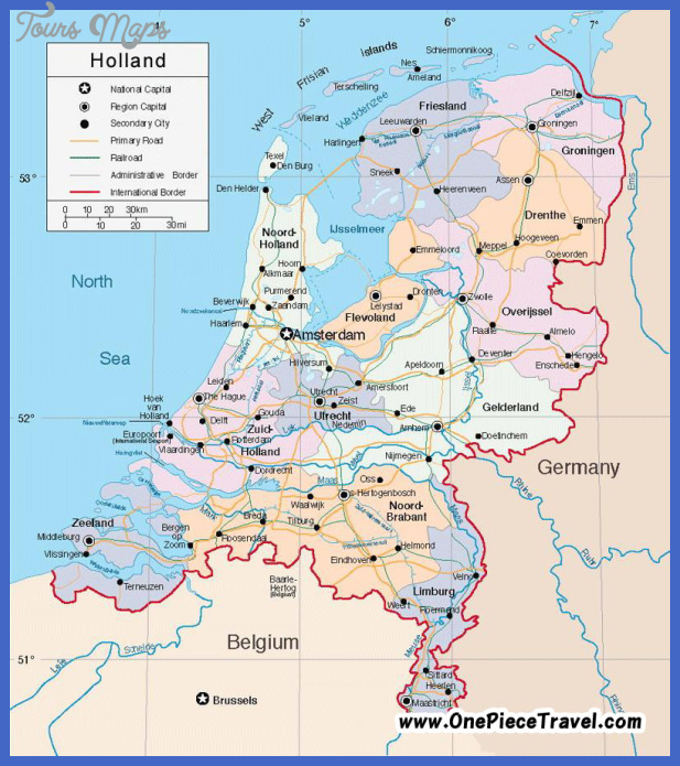 netherlands map tourist attractions 1 Netherlands Map Tourist Attractions