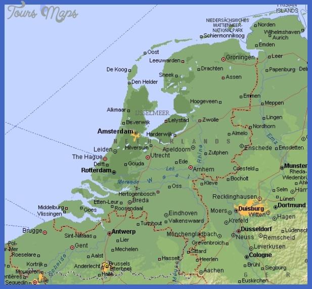 Netherlands Map ToursMapscom