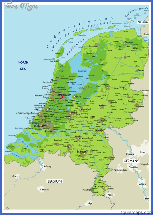 Netherlands Map ToursMapscom
