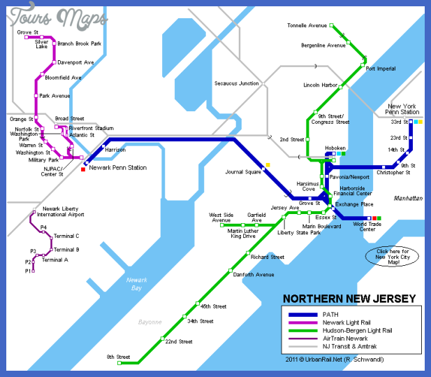 new jersey map Newark Subway Map