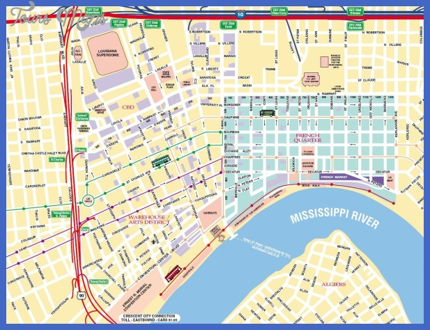 New Orleans Subway Map ToursMapsCom – Tourist Map New Orleans