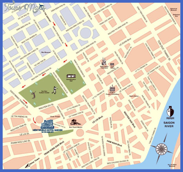 Ho Chi Minh City Map Tourist Attractions ToursMapsCom – Tourist Map Of Ho Chi Minh City