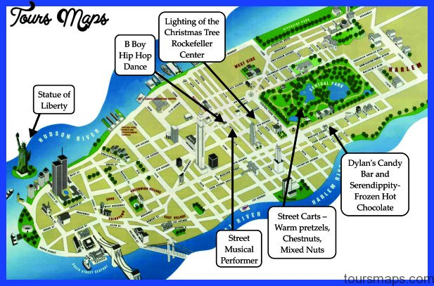 New York Metro Map Tourist Attractions ToursMapsCom – Map Of New York Tourist Attractions
