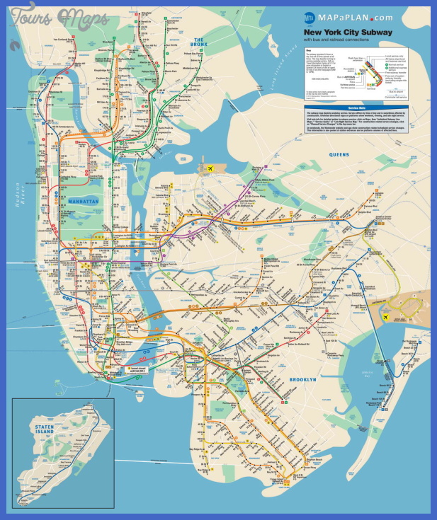 New York Metro Map Tourist Attractions ToursMapsCom – Map Of New York City Tourist Attractions