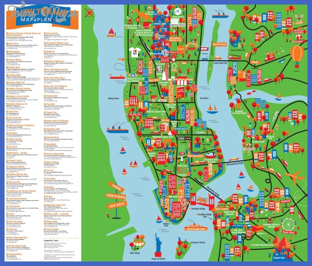 New york metro map tourist attractions for Things to doin nyc