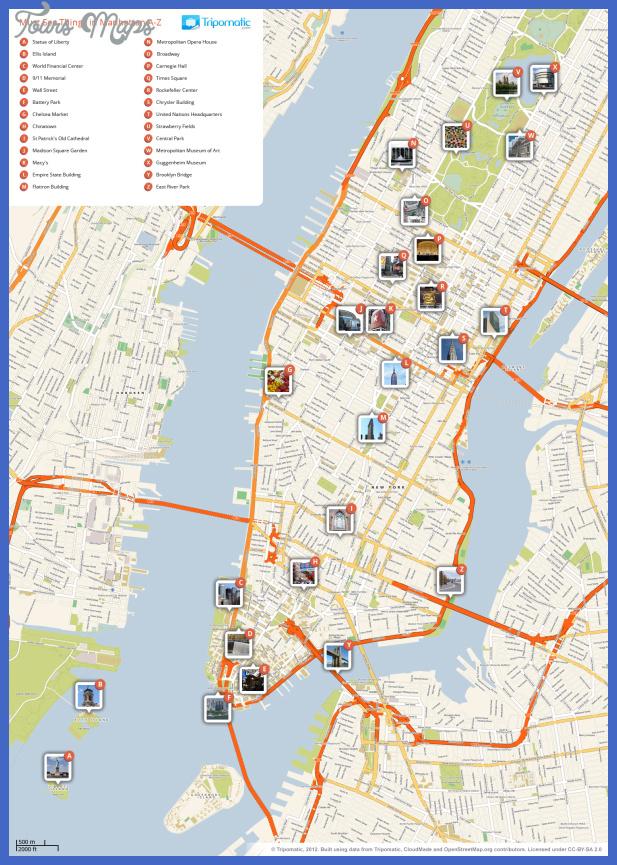 new york manhattan printable tourist attractions map New York Metro Map Tourist Attractions