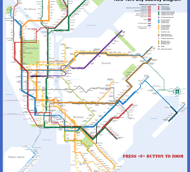 New York Metro Map  Map  Travel  Holiday  Vacations