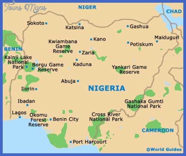 nigeria map Niger Map Tourist Attractions