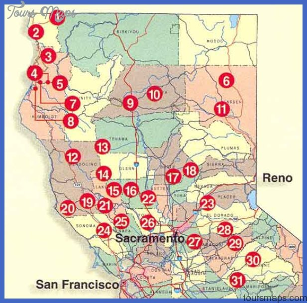 norcal Irving Map Tourist Attractions