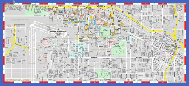 North Las Vegas Map Tourist Attractions ToursMapsCom – Tourist Map Of Las Vegas