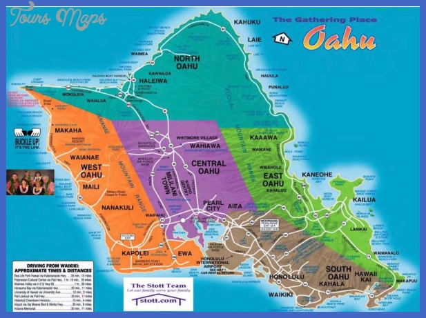 Urban Honolulu Map Tourist Attractions - ToursMaps.com