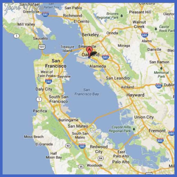 oakland map San Francisco Oakland Map