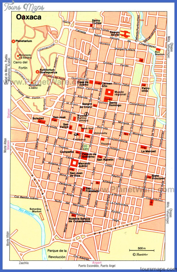 oaxaca map Mexico City Map Tourist Attractions