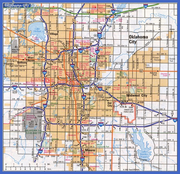 okc Oklahoma City Map