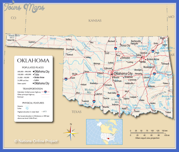 oklahoma map Oklahoma City Map