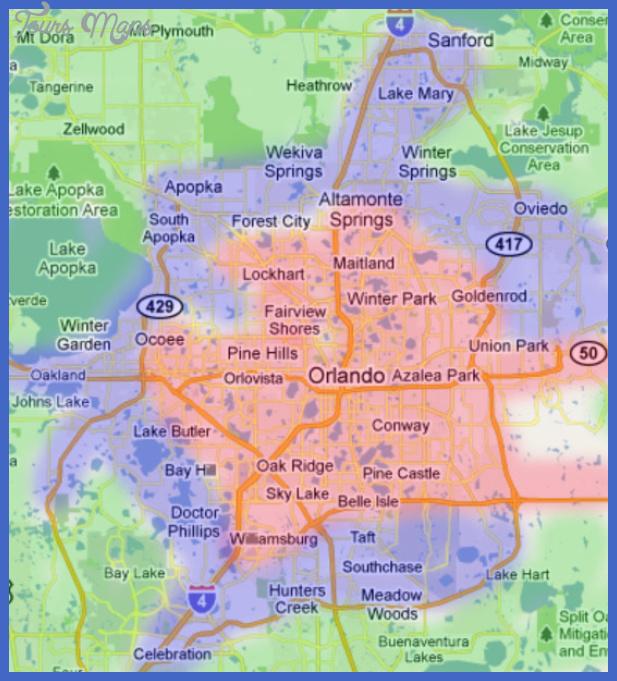 orlando metro map  0 Orlando Metro Map