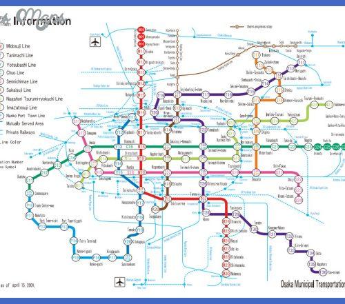 Osaka RailWay Map,Map Osaka,JapanMap Osaka_点力图库