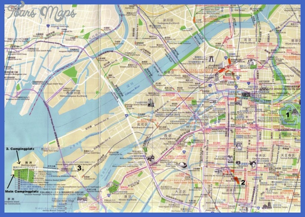 osaka map for tourists Japan Map Tourist Attractions