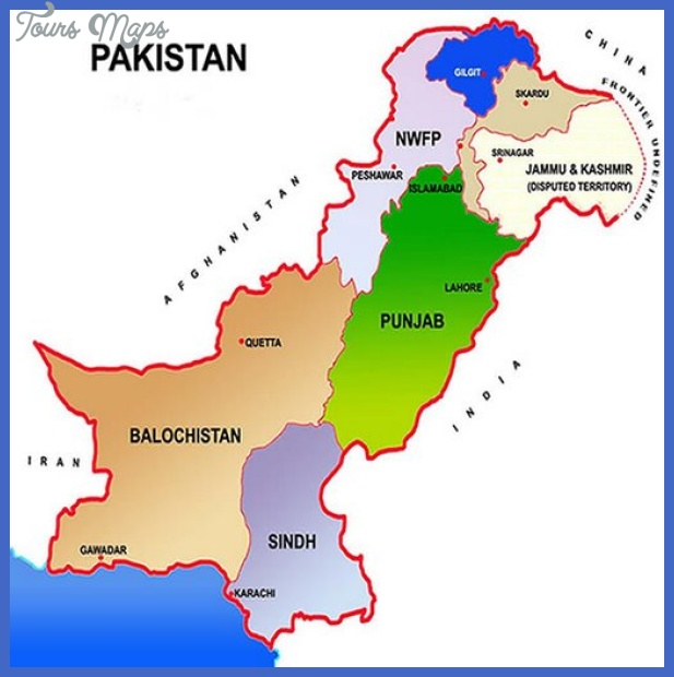 pakistan map4 Pakistan Map