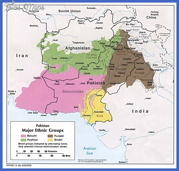 pakistan ethnic 80 Pakistan Map