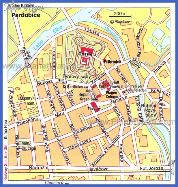 pardubice map Czech Republic Map Tourist Attractions