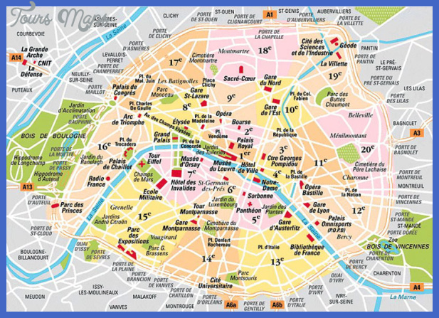 paris map arrondissements Paris Map