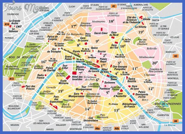 paris map arrondissements Paris Map