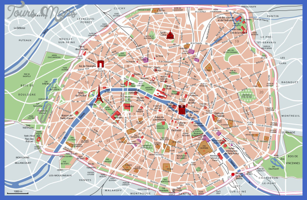 map of sights in paris map of paris attractions