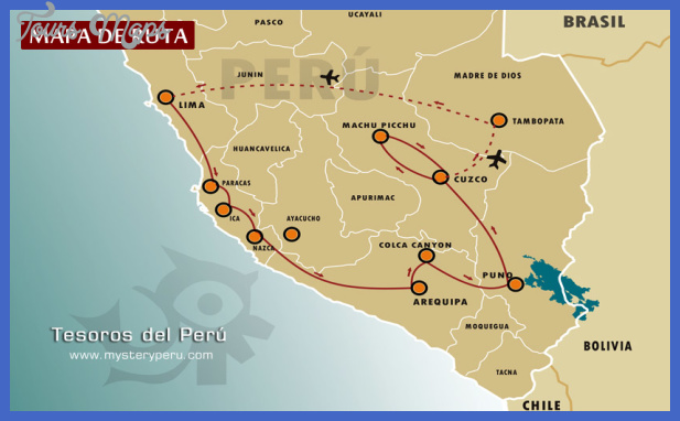 Peru Map Tourist Attractions ToursMapsCom – Tourist Map Of Peru