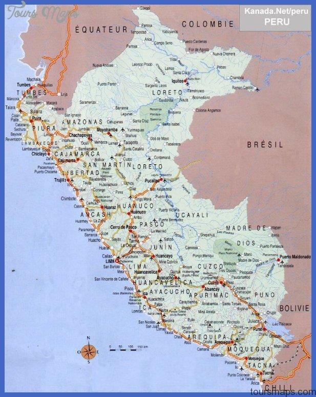 peru map 6 Peru Map