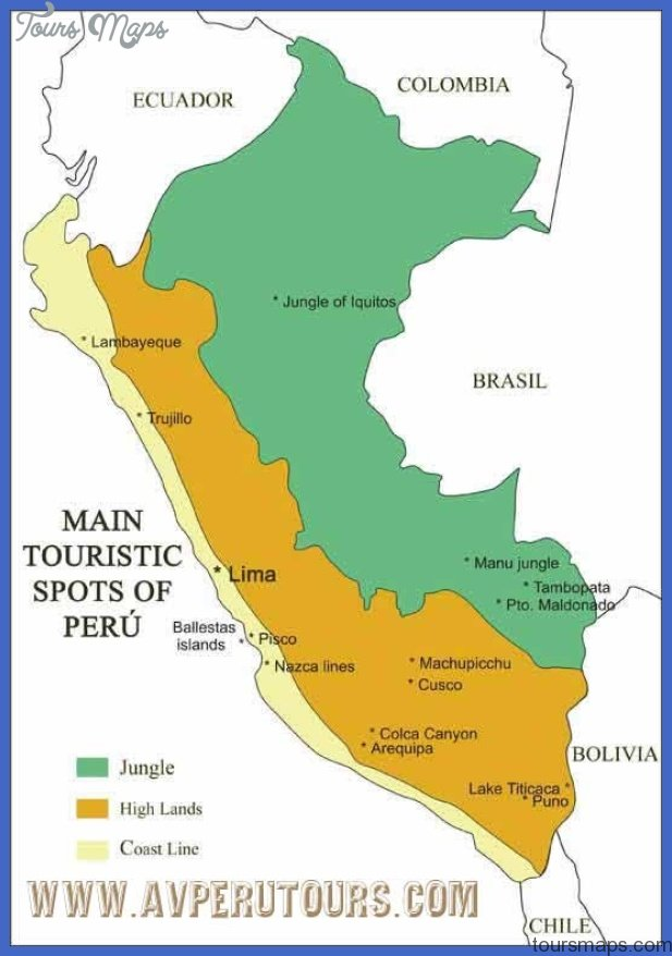 perumap Peru Map Tourist Attractions