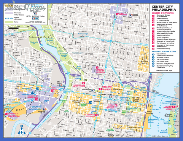 philadelphia map tourist attractions 3 Philadelphia Map Tourist Attractions