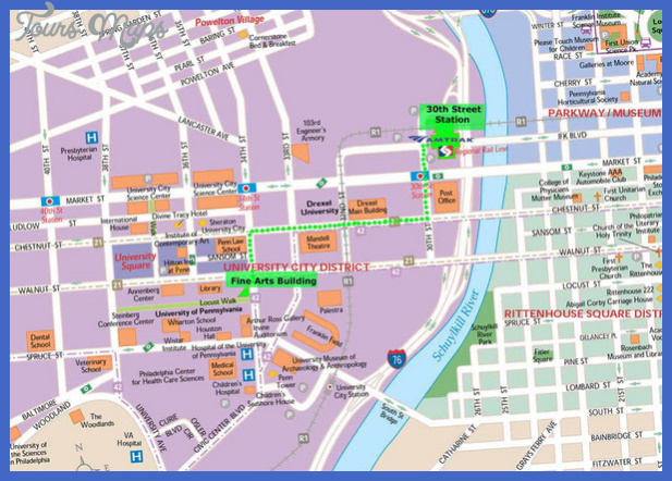 philadelphia map tourist attractions 4 Philadelphia Map Tourist Attractions