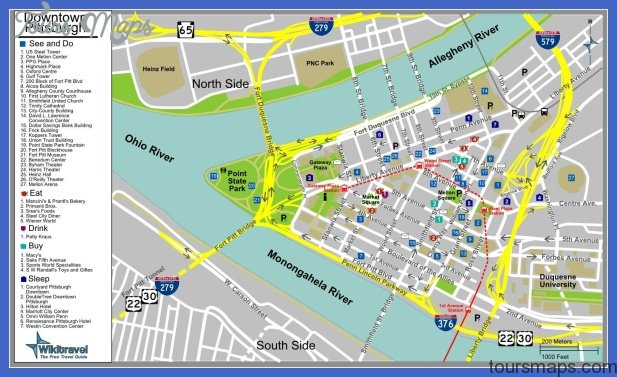 pittsburgh map downtown 1 Pittsburgh Subway Map