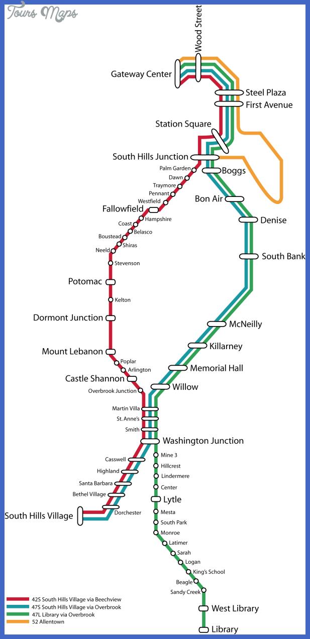 pittsburgh metro map 2 Pittsburgh Metro Map