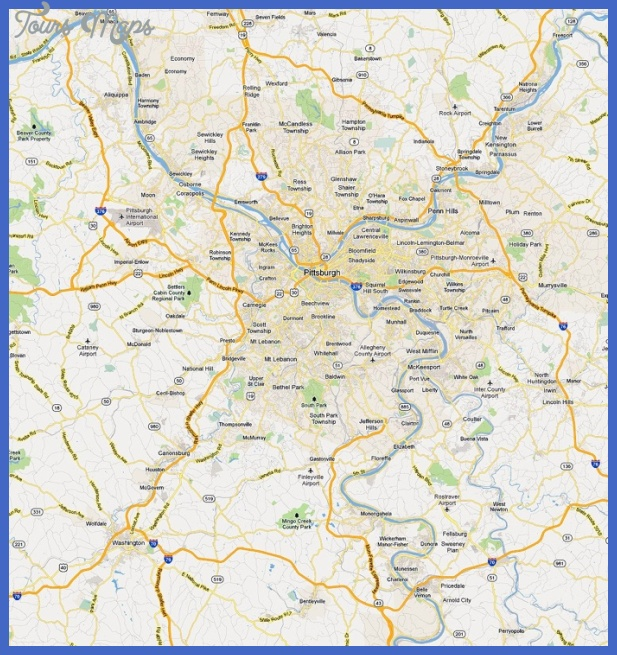 pittsburgh metro map 3 Pittsburgh Metro Map